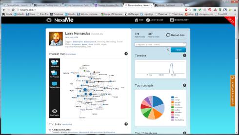 Trying out NexaMe (Twitter Analysis Tool)